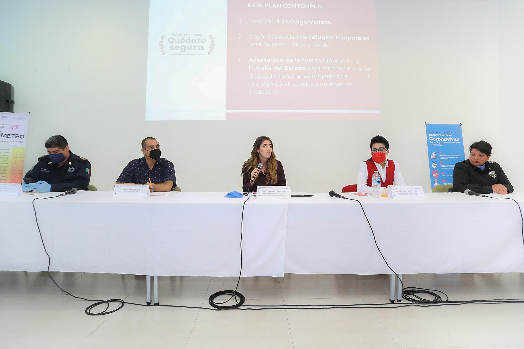 """La SISEMH presenta """"Quédate en casa, Quédate Segura"""" en Puerto Vallarta"""