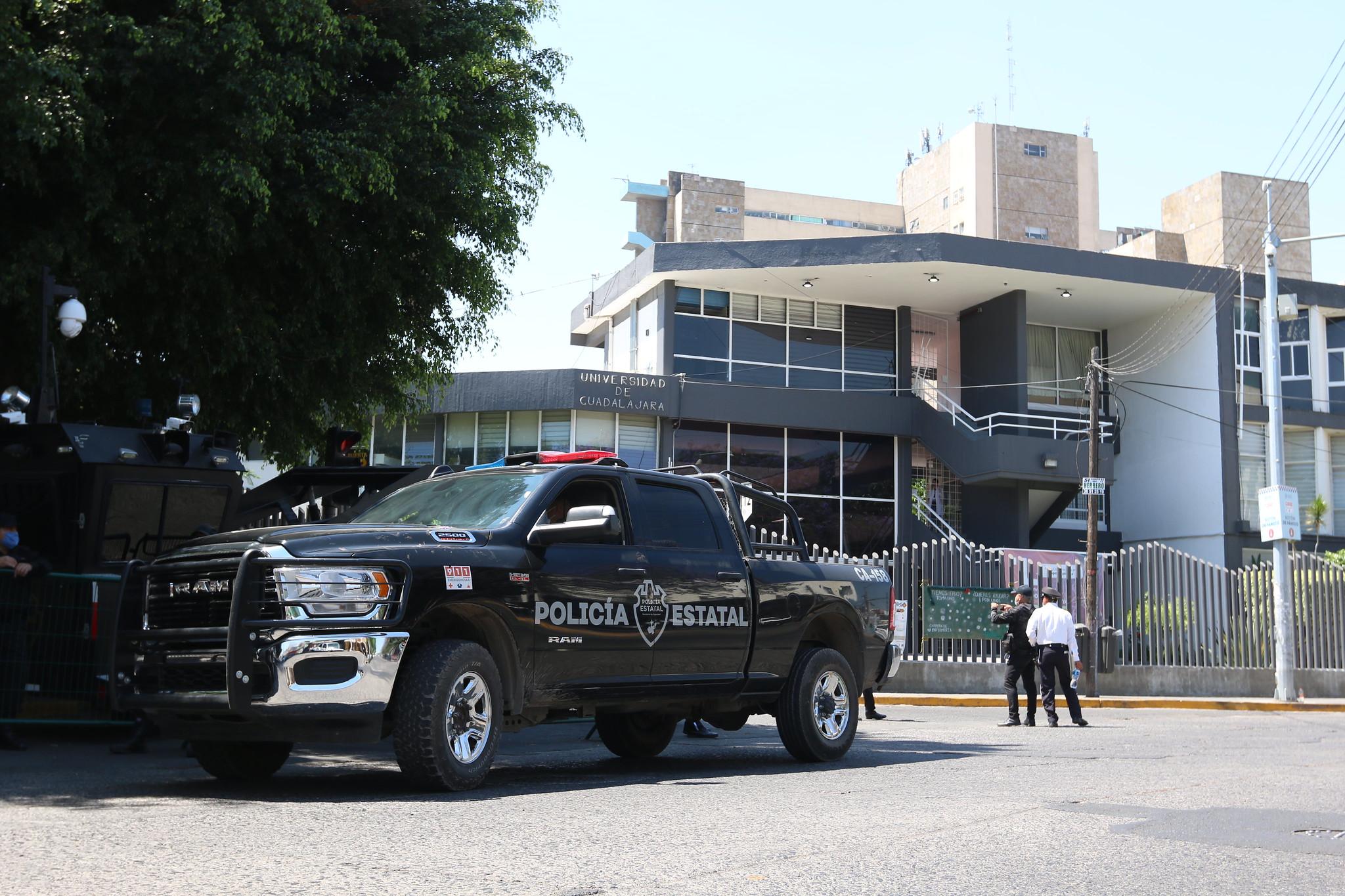 Vigila Secretaría de Seguridad inmediaciones del CUCS durante aplicación de pruebas por COVID-19