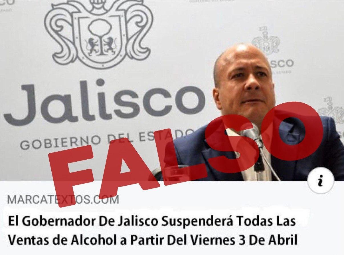 """Falso que exista """"Ley Seca"""" en Jalisco."""